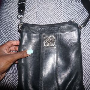 Vintage Coach Leather Cross Body Purse